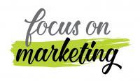 focus on marketing logo