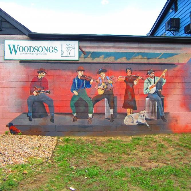 Woodsongs Instruments Mural
