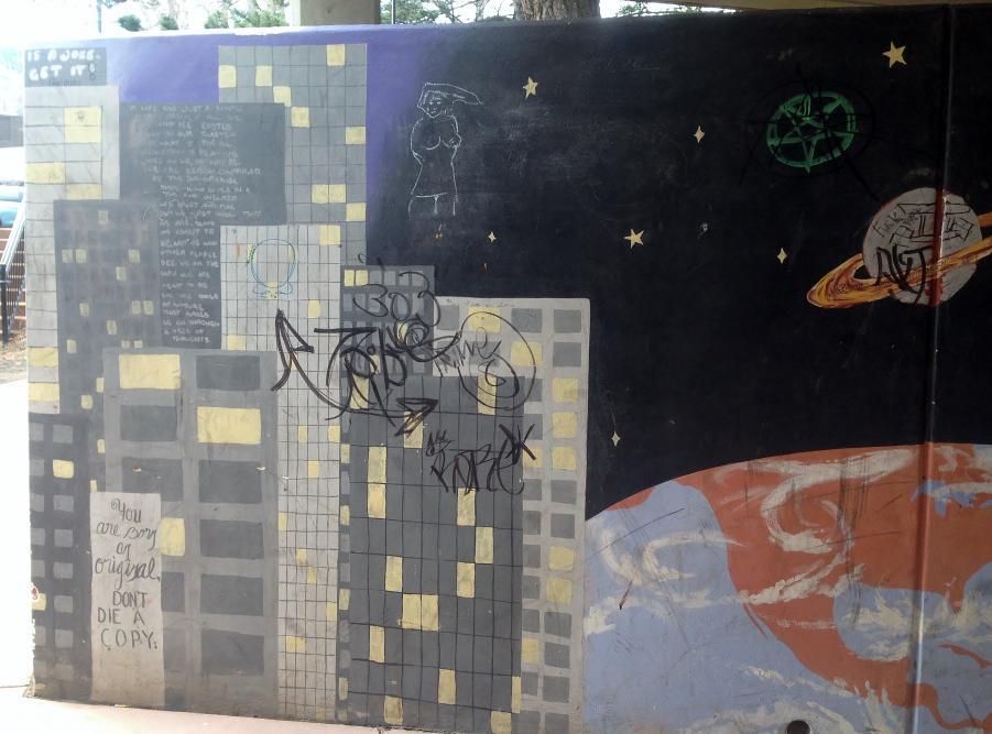 Graffiti on city